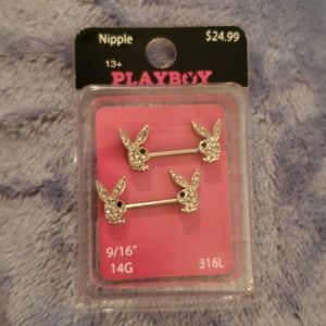 BRAND NEW Officially Licensed Playboy Nipple Rings